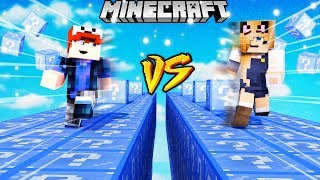 SZALONY WYŚCIG! - ZIMOWE LUCKY BLOCKI MINECRAFT (Winter Lucky Block Race) | Vito vs Bella