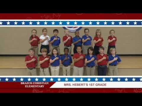 Daily Pledge-Brazos Christian School-Mrs. Hebert