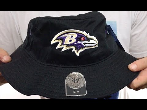 b28c35974fc476 Ravens 'KIRBY BUCKET' Black Hat by Twins 47 Brand - YouTube