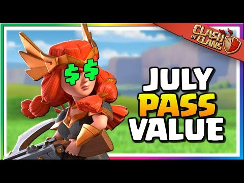 How Much Is The JULY SEASON PASS Worth In Clash Of Clans?
