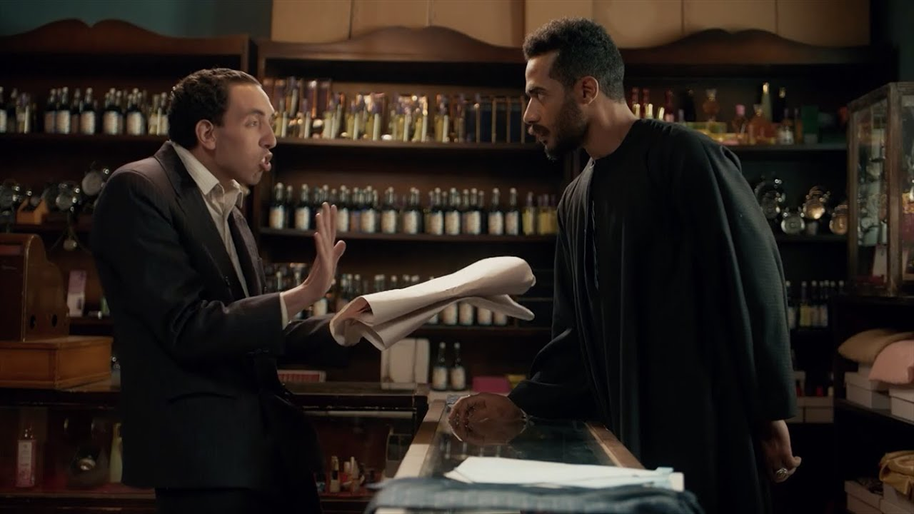 موسى قابل شبيه اسماعيل ياسين : أنت متعرفنيش ! / مسلسل موسي - محمد رمضان