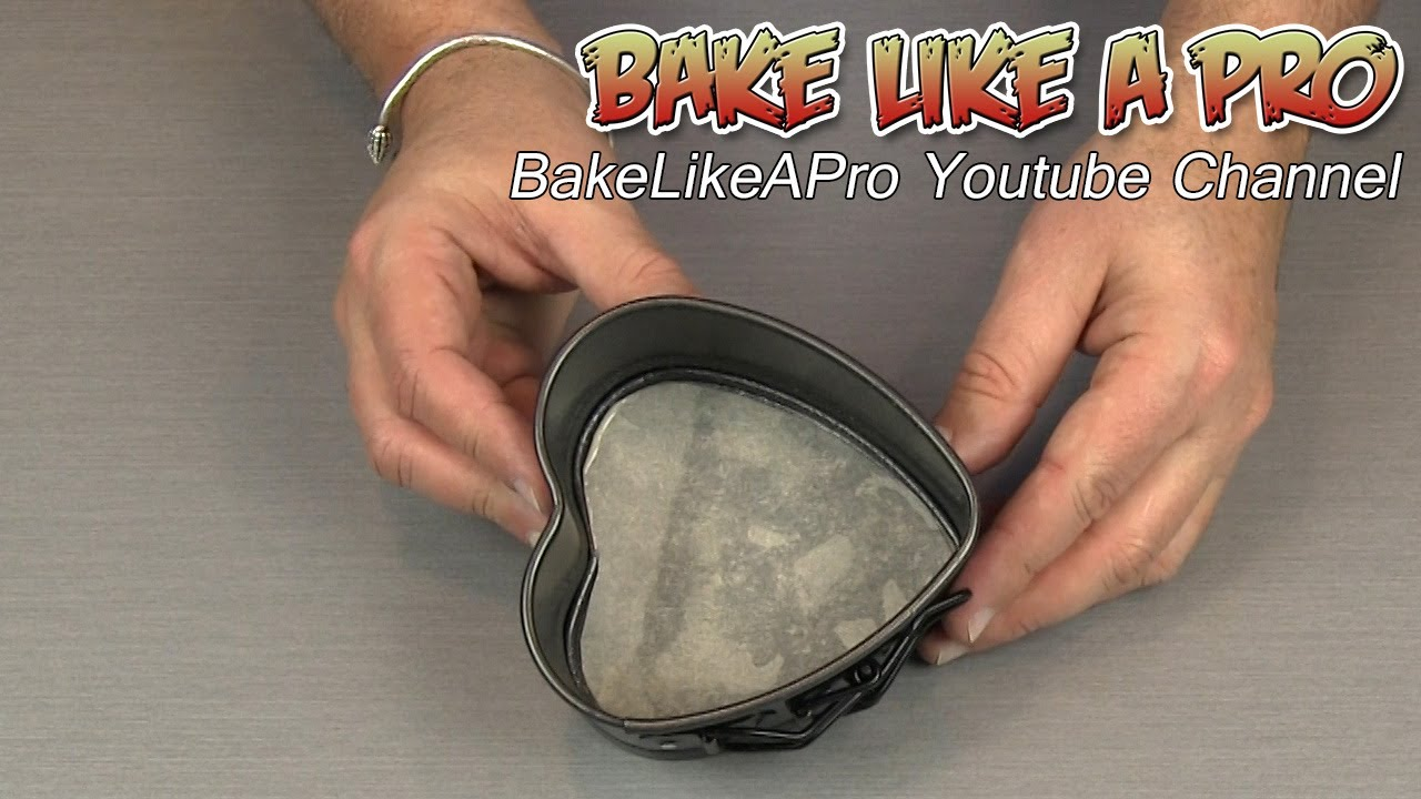 how to line a heart shaped baking pan with parchment paper youtube