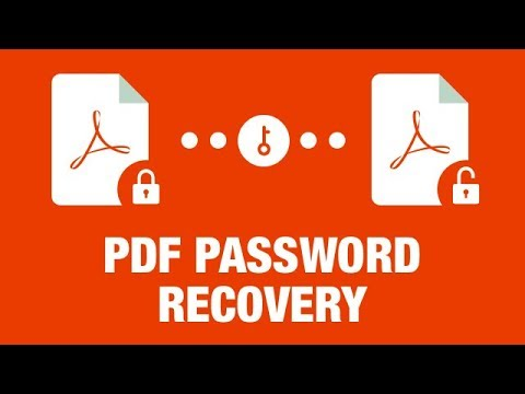 PDF Password Recovery - How to Recover/Retrieve/Unlock/Bypass PDF Password