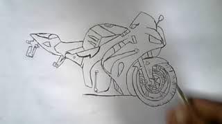 Desenho da moto cb600F