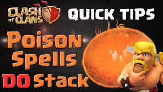 Clash of Clans | Poison Spells DO Stack - CoC Quick Tips