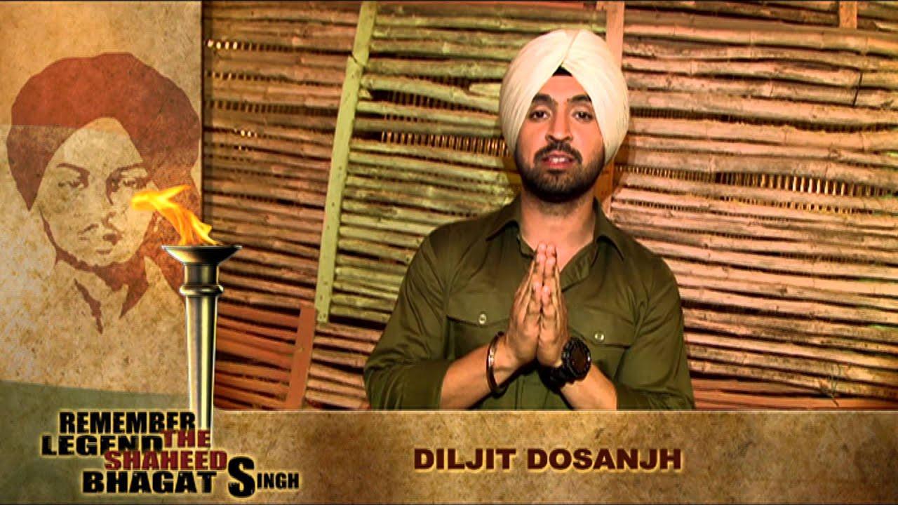 Diljit dosanjh wishing amp singing on shaheed bhagat singh on his