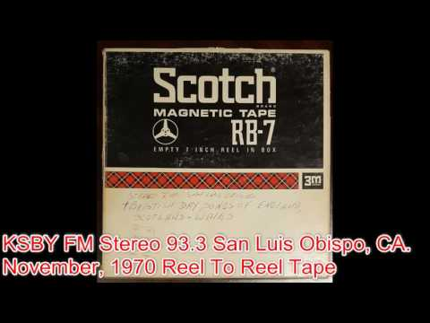 Reel To Reel Tape - KSBY FM Radio 93 3 (November 1970) (Pt.1)