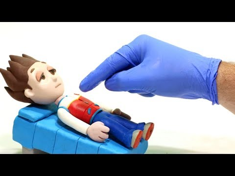 Ryder on the bed 馃挄Superhero Play Doh Stop motion cartoons for kids