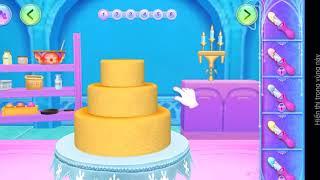 Học làm bánh sinh nhật game công chúa | game trẻ em