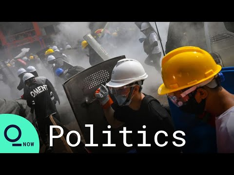 Myanmar Coup: Tear Gas Deployed in Yangon Protest As Death Toll Rises - Bloomberg Quicktake: Now