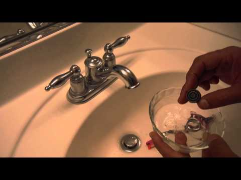 How to Clean a Bathroom sink Faucet Aerator Screen (Low water pressure)