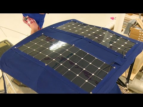 How to Install Solar Panels on a Bimini