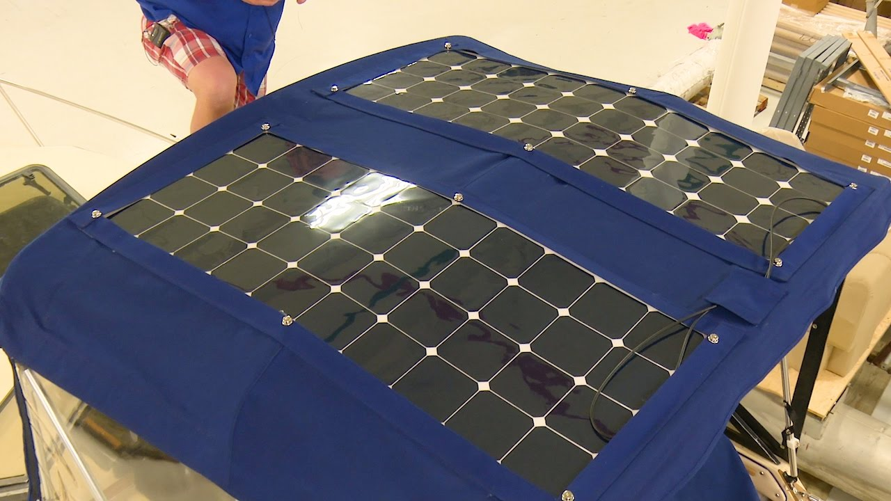 How to Install Solar Panels on a Bimini - YouTube