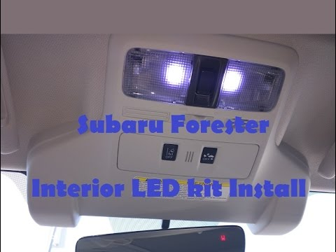 Subaru Forester Interior LED kit Installation - YouTube