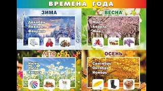 Изучаем дни недели, времена года, месяцы на русском языке.Learn days of the week, seasons and months