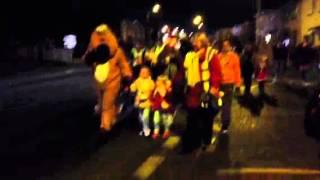 Reggie Reindeer leading the walk