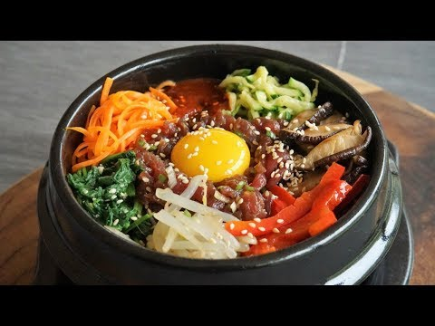 Dolsot Bibimbap: Rice, Vegetables and Meat to Mix in a Hot Bowl Morgane Recipes