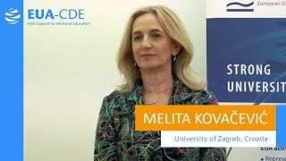 EUA-CDE (Council for Doctoral Education) - Melita Kovačević, University of Zaghreb (Croatia) thumbnail