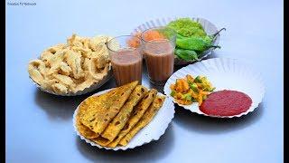 Street Food Breakfast In Ahmedabad, Gujarat, India | Amazing Cooking Skills | Nikunj Vasoya