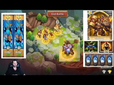 OverPowered Rockno SOLO Smashing Lost Battlefield Teams Castle Clash