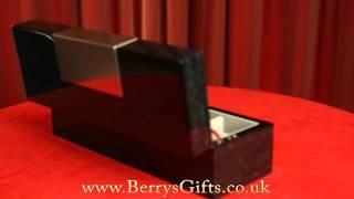Vicci Black Wooden 5 Piece Watch Box