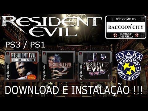 RESIDENT EVIL 1, 2 e 3 (PS3/PS1). DOWNLOAD e INSTALAÇÃO !!!