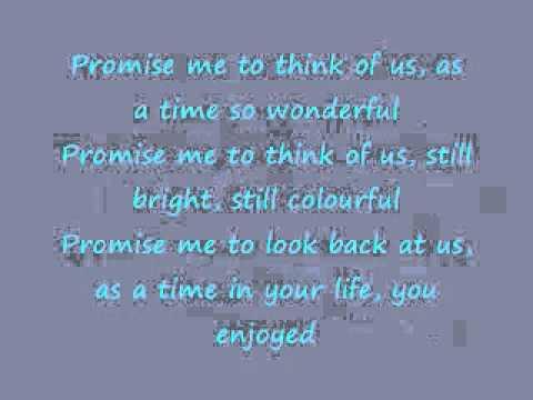 Lyrics of promise me by dead april