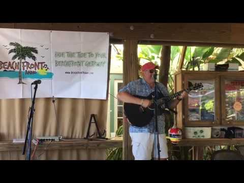 Bob Schiele plays 'I Got Nothing' for Beachfront Radio at the Sunset Tiki Bar in Key West 4822
