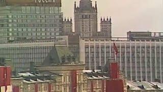 Парад войск на Красной площади в Москве, 7 ноября 1987 г. Кинохроника