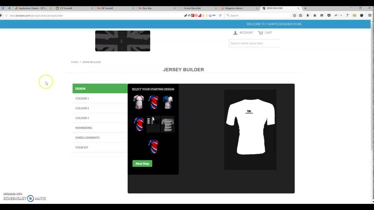 Online T-Shirt Design Tool Magento - YouTube