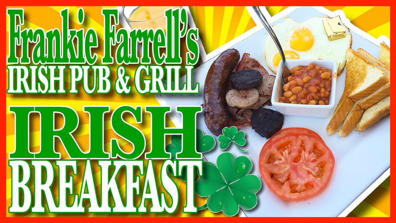 Irish Breakfast with Blood Pudding at Frankie Farrell's
