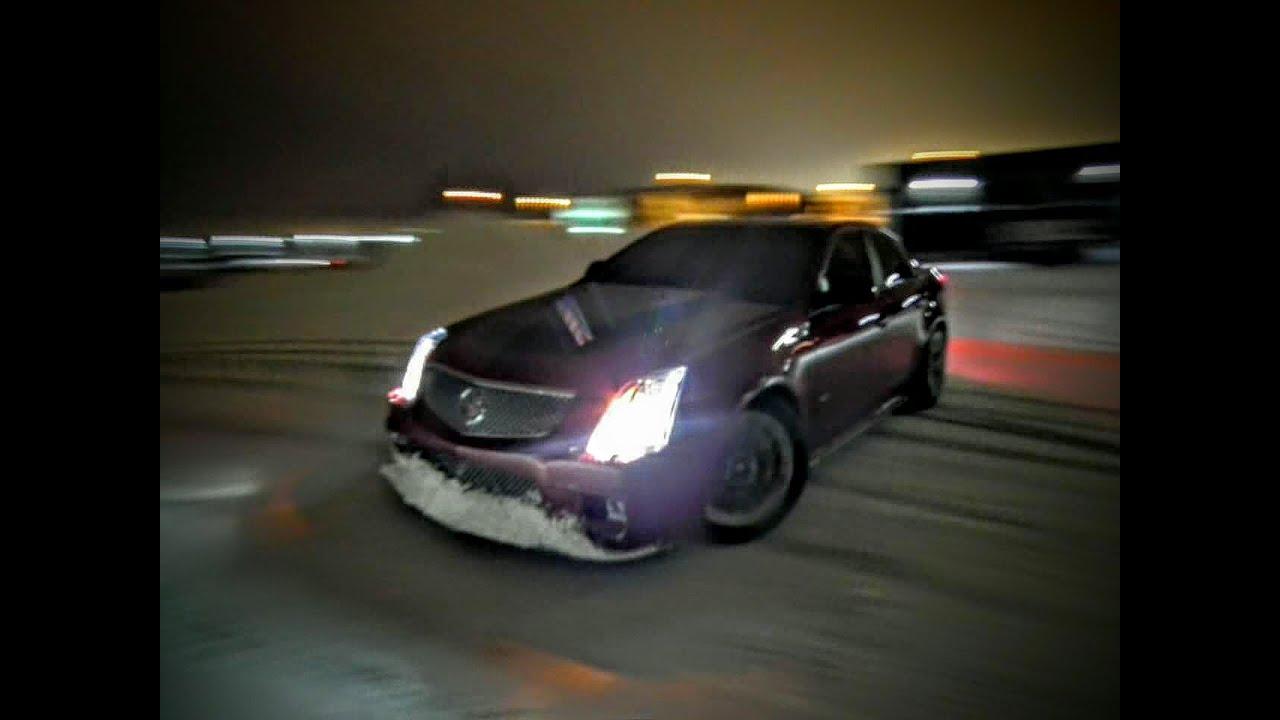 600hp Cadillac Cts V Snow Drifting Youtube