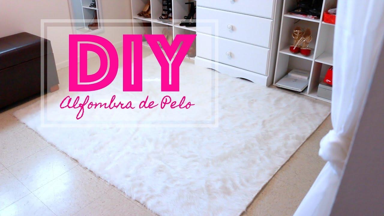 Como hacer una alfombra de pelo diy alfombra de pelo for Como puedo decorar mi sala