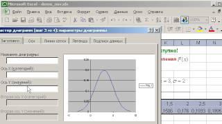 как построить нормальную кривую? (график плотности и график функции распределения)