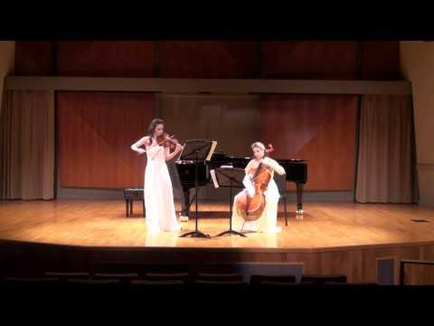 Ravel Sonata for Violin and Cello, 2nd Movement - Tres Vif