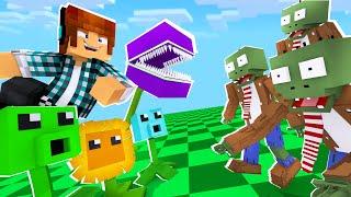 Minecraft : PLANTAS VS UMA INVASÃO DE ZUMBIS !! ( Plants Vs Zombies no MINECRAFT)