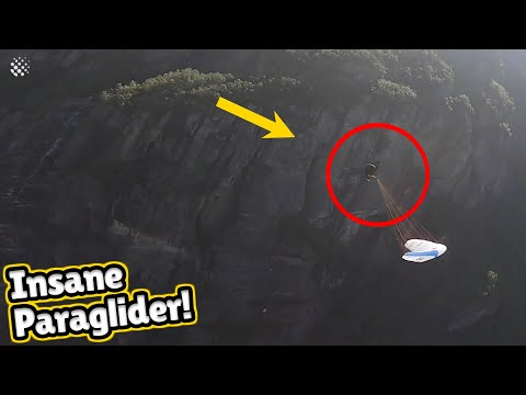 Vertigo-inducing footage shows paraglider perform insane front flips