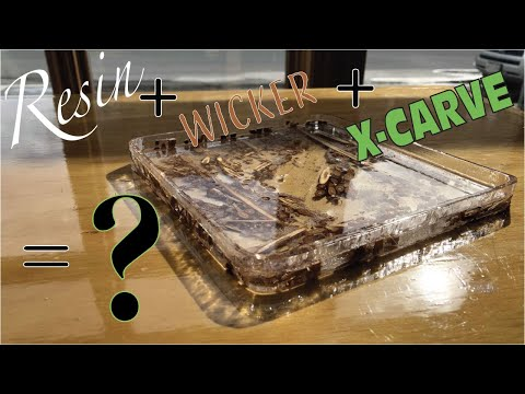 Making a Wicker and Cast Resin Dish Using My X-Carve CNC Router // How To Builds
