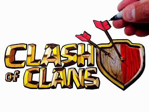 How to Draw the Clash Of Clans Logo