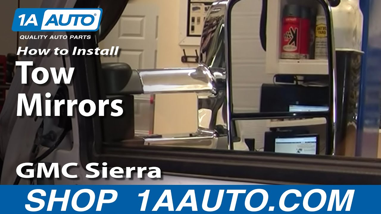How To Upgrade Tow Mirror with Signal Chevy Silverado GMC Sierra 9902 Part 1  1AAuto  YouTube