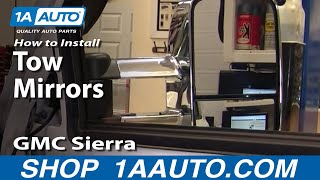 How To Upgrade Tow Mirror With Signal Chevy Silverado GMC Sierra 99-02 Part 1 - 1AAuto.com