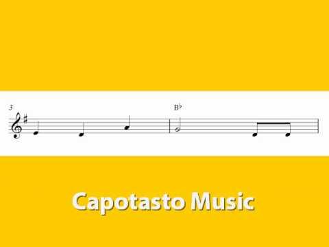 Alto saxophone sheet music, Happy Birthday To You
