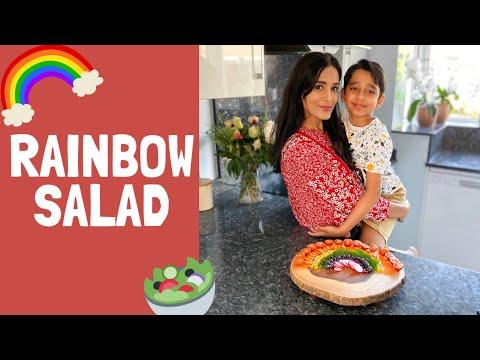 Rainbow Salad | Salad Ideas for Kids | Healthy Rainbow Salad Recipe | Easy Kids Recipes