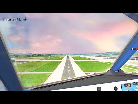 Airbus A320 Landing Cockpit View At Zurich