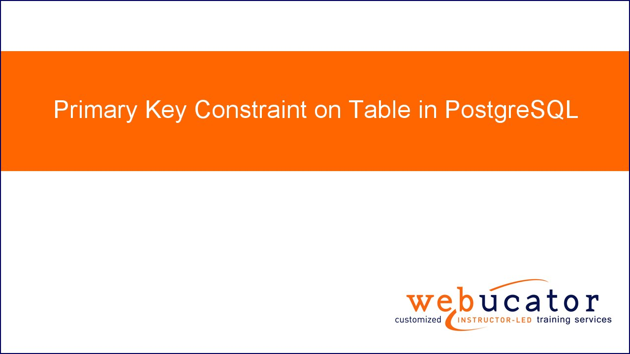 Primary key constraint on table in PostgreSQL | This Dot Life