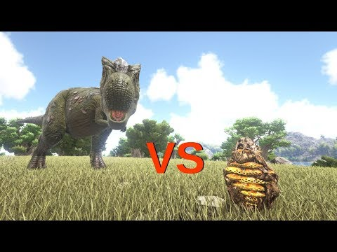 Rex VS Giant Queen Bee (Beehive) and 150 Giant Bees || ARK: Survival Evolved || Cantex
