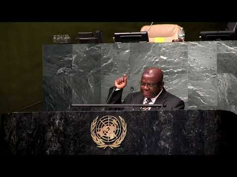 Iyorwuese Hagher Speak at IYLA Global Summit at the UN General Assembly Hall