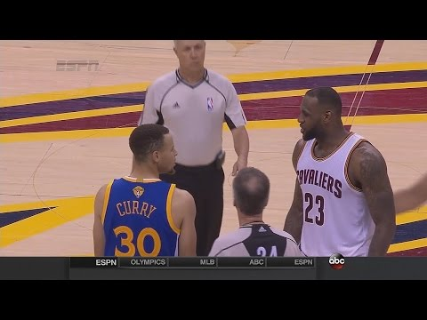 LeBron and Steph Curry Fight - Warriors vs Cavaliers - Game 4 - 2016 NBA Finals