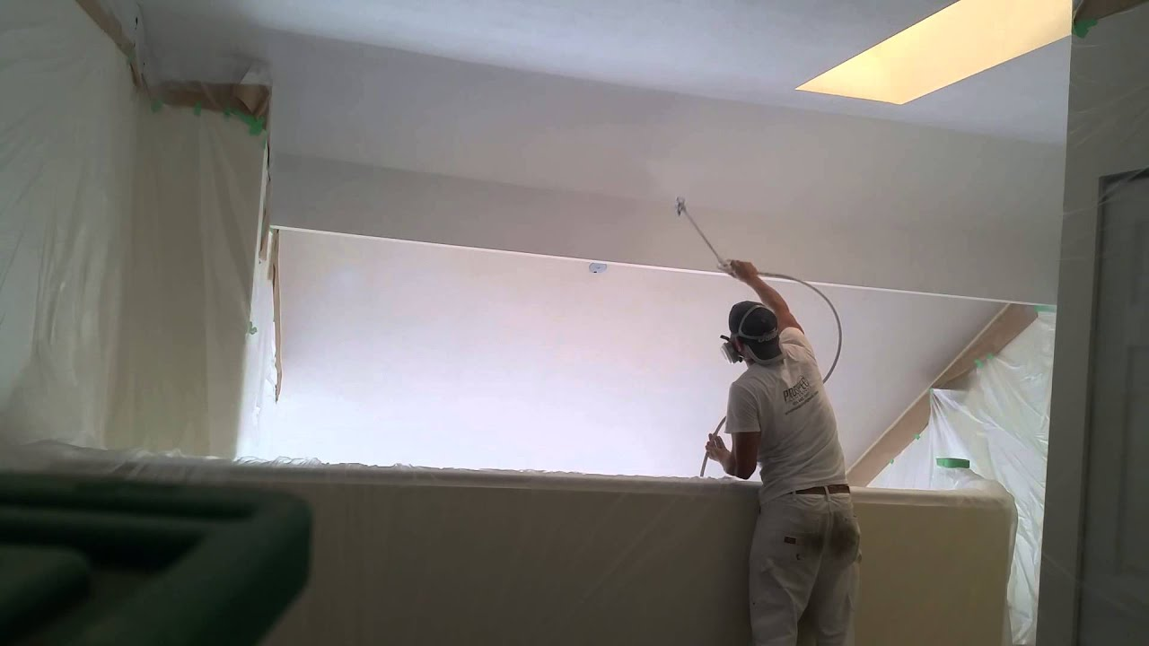 Acoustic ceiling spray painting youtube acoustic ceiling spray painting dailygadgetfo Image collections