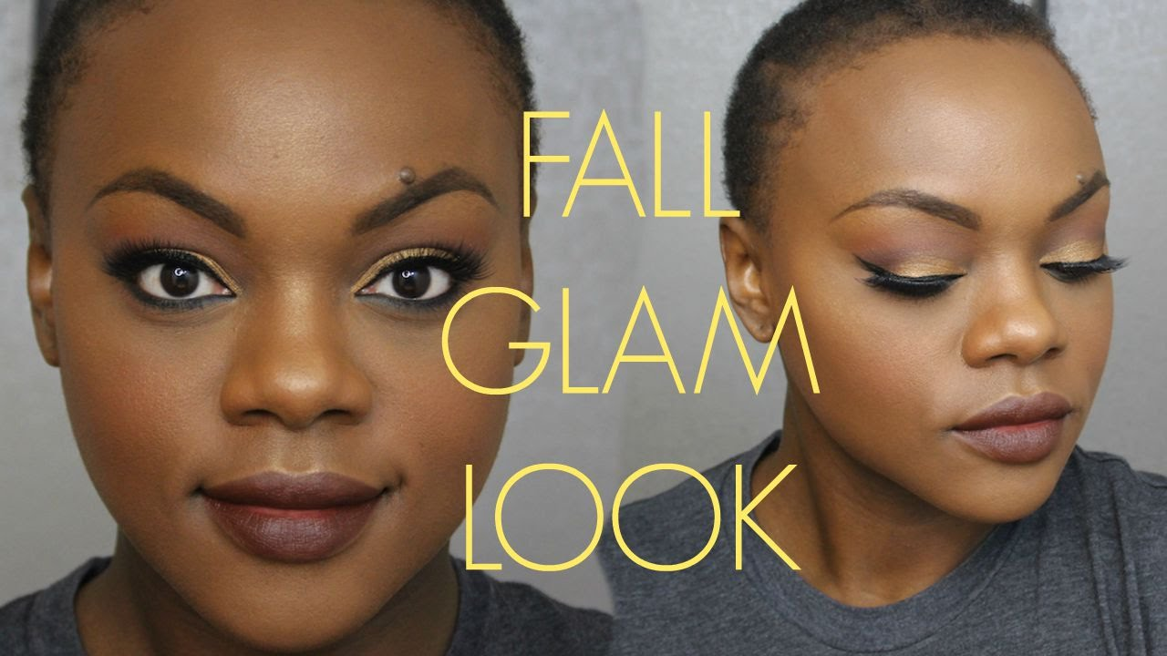 How To Fall Glam Look Using Mac Antique Velvet Youtube